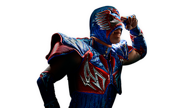 aerostar - Very few wrestlers are as spectacular as Aerostar. He dares to perform fearless jumps from the top of the lighting structure of the building or from atop the 3rd chord of any ring. It's no difference to him. He's the AAA's acrobatic and aerial luchador for excellence and has been ever since he first appeared at Mexican Lucha Libre.His consolidation as one of the top wrestlers within the AAA came when he won a bet match against Super Fly and after constant matches in events run under the Lucha Underground label.