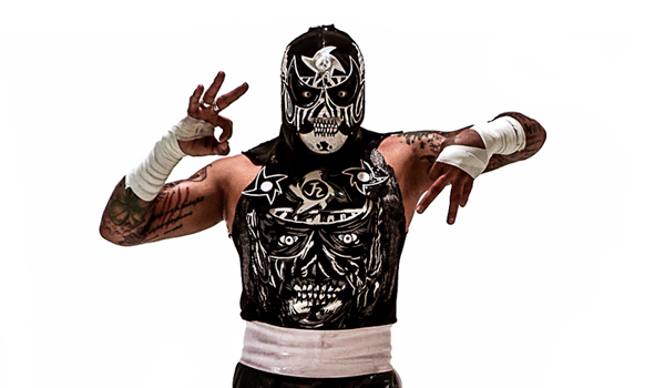 """PENTAGON JR. - The """"Cero Miedo"""" (Zero Fear) of lucha libre. He learned how to take Mexican lucha, wrestling and a true rudo (rude) spirit into the ring and outside of it.Along with his brother, Fénix, they both built a new standard, a lucha libre revolution that keeps bringing new fans with the approval of lucha libre hardcore enthusiasts.His achievements: Lucha Underground Champion, Impact World Champion, AAA World Tag Team Champion (with Fénix), AAA Latin American Champion."""