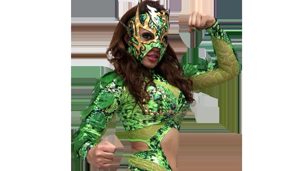 LA HIEDRA - La Hiedra es una de las luchadoras jóvenes más fuertes que ha dado el norte de la República Mexicana. Estrella de segunda generación, es hija de una leyenda de la lucha libre, Andrés Richardson