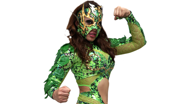 LA HIEDRA - La Hiedra is one of the strongest young fighters that has come out of the north of the Mexican Republic. She is a second generation star and the daughter of a legend of wrestling, Andrés Richardson