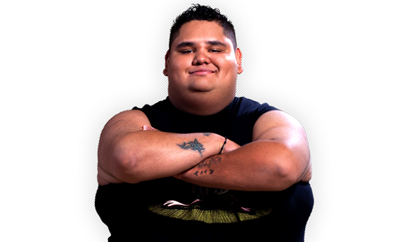 """NIÑO HAMBURGUESA - When we talk about charisma, this luchador, also known as El niño-come-hamburguesas (Spanish for """"Kid-who-eats-hamburguers""""), is undoubtedly the king. He began his career with the Mexican Power, but his talent, skills, and the aforementioned charisma, has led him down a path where he has managed to shine by his own light. This young star has earned the love and admiration of the audience due in no short measure for his charisma, but also due to his spectacular moves, being that his famous """"moto-sentón"""" or when he performs a """"flying tope"""" or a """"plancha"""" above any of the AAA rings."""