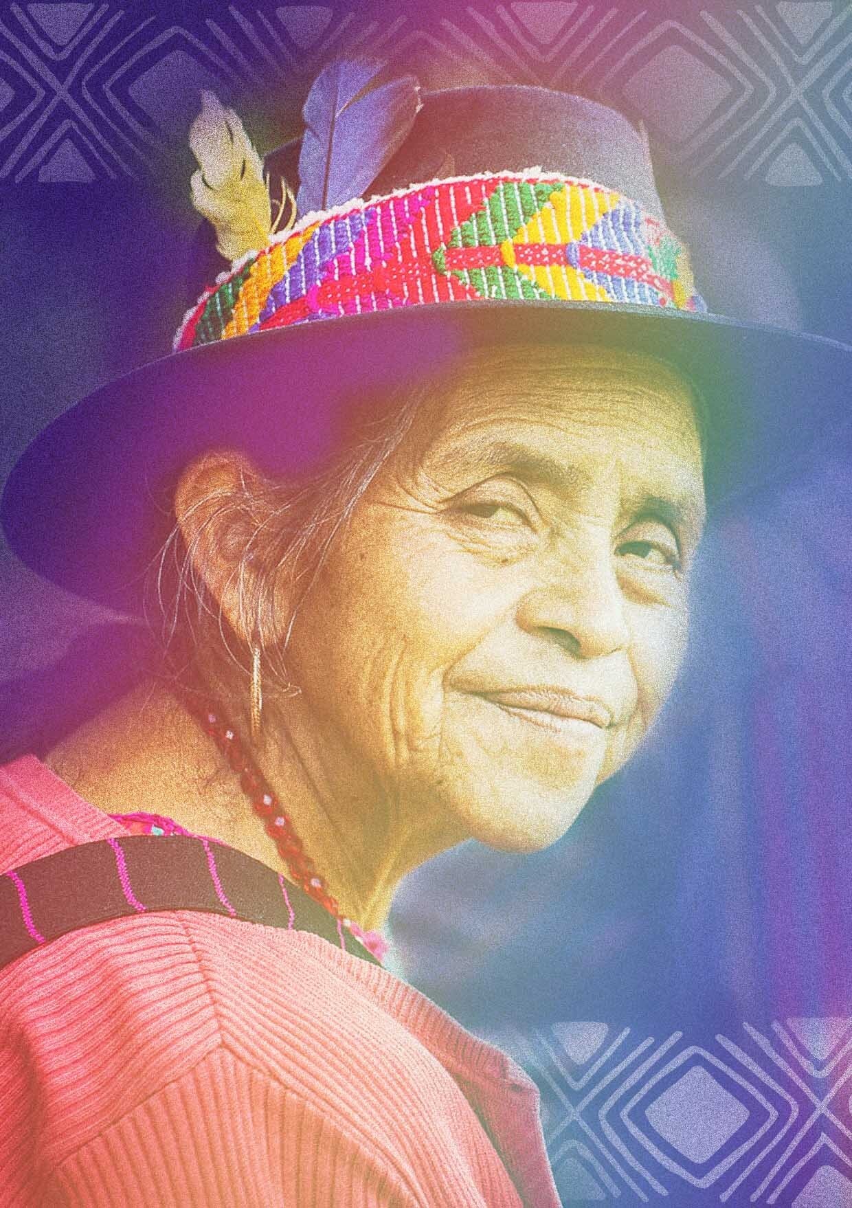 Spiritual guide and midwife, she works with the sacred fire and tobacco readings. She's been elected as part of the ancestral authorities and is responsible for maintaining the order community in Solola. - maya k'iche, guatamalaNana Rosalia Zavala