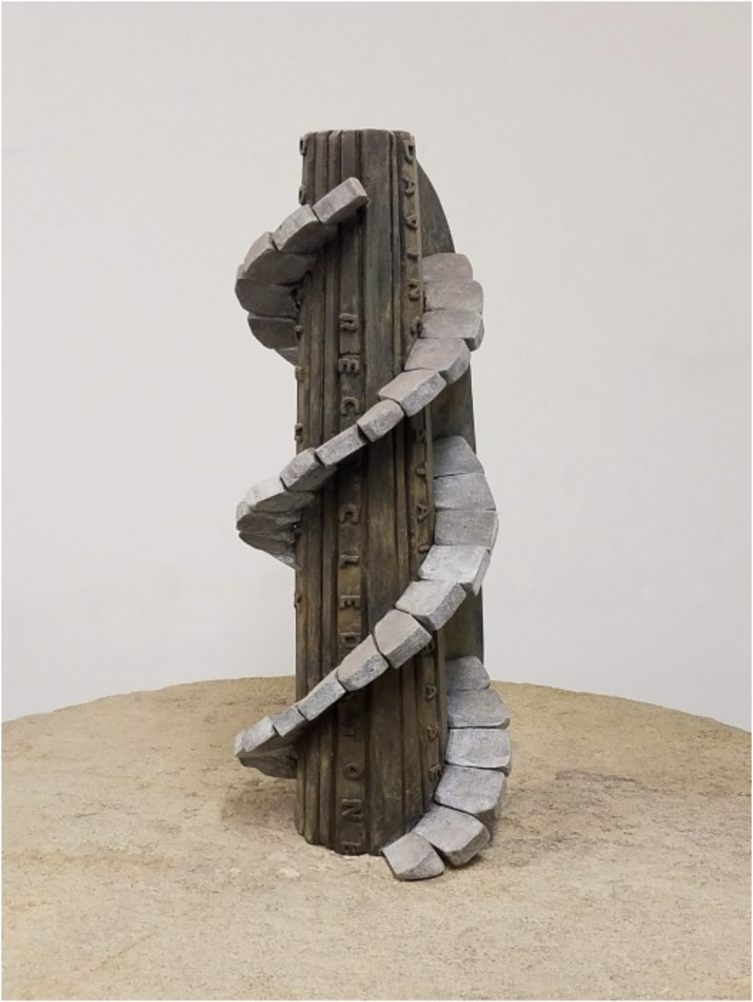 DNA Tower, 2014 Bronze and brass 57.5 × 45 × 44.5 inches