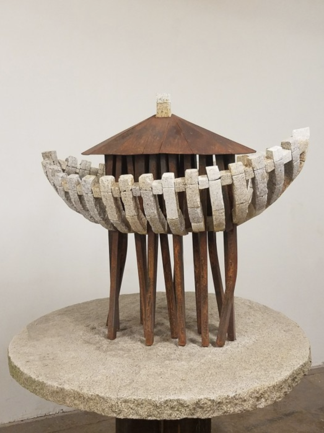 The Ark, After Paris (Small) 2017 Stone and steel 65.5 × 46 × 45 inches