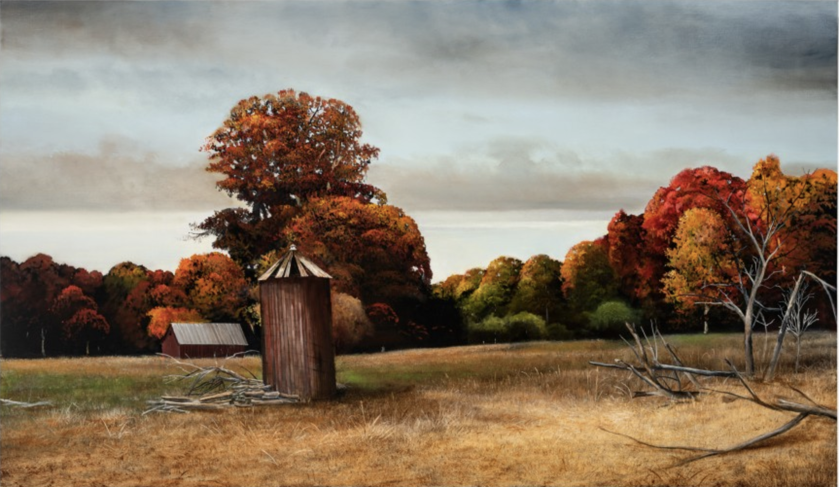 Fall Idyll, 2019 oil on canvas 48 × 82 inches