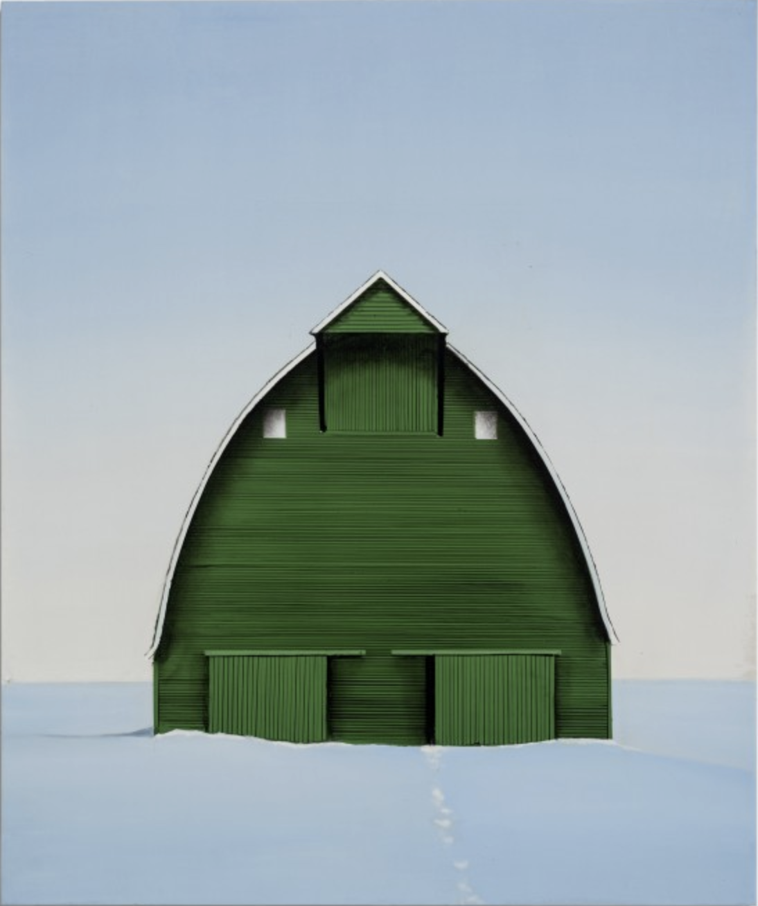 Winter's day, 2019 oil on canvas 36 × 30 inches