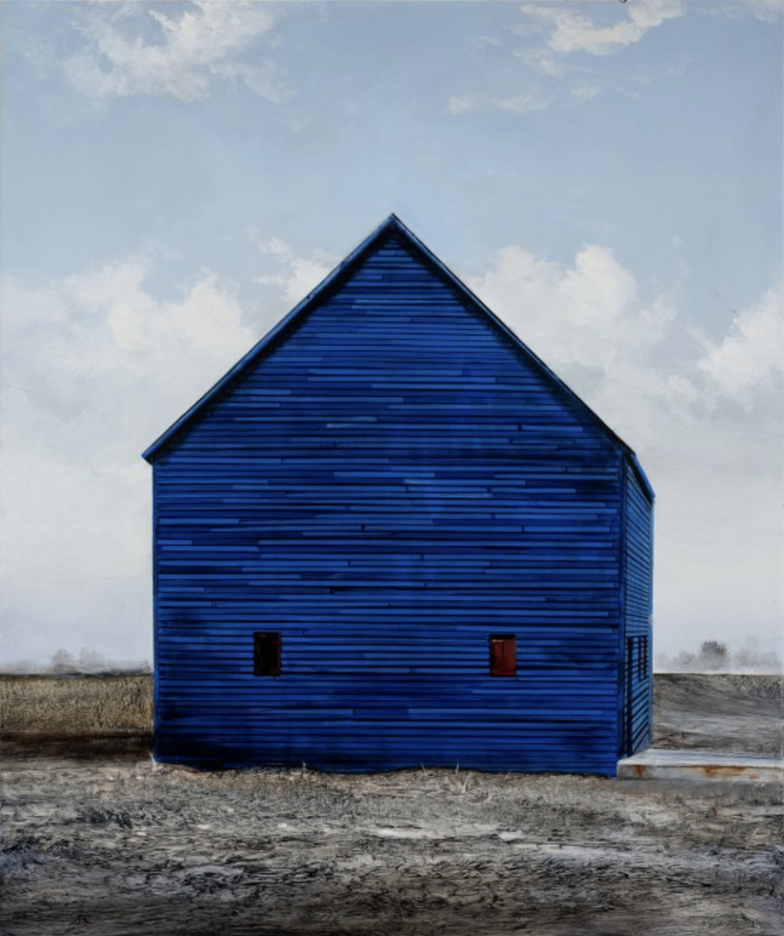 Blue Stores, 2019 oil on panel 36 × 30 inches