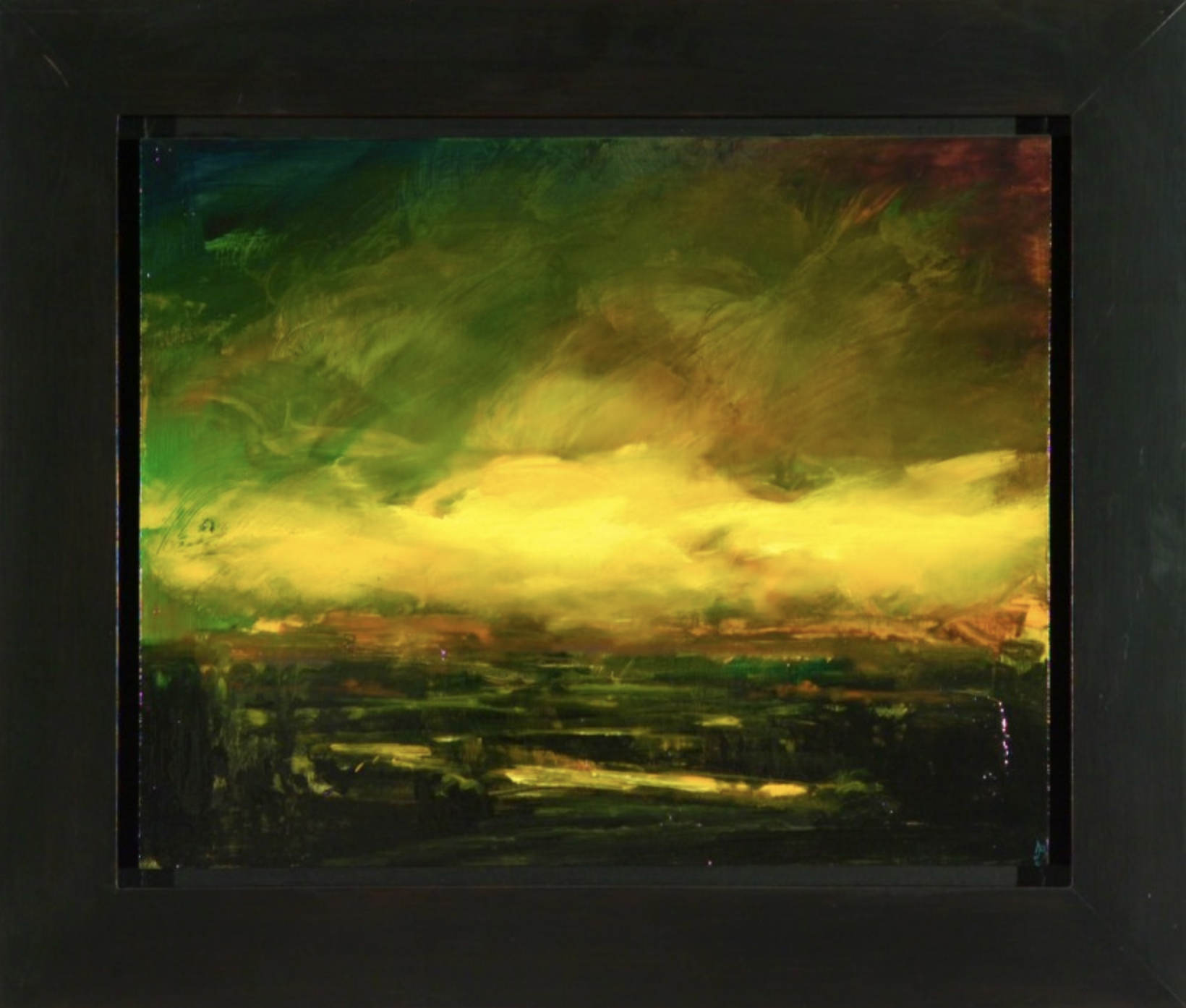 The Line to Home, River Delta, 2000 oil on board 16.5 × 19.5 inches