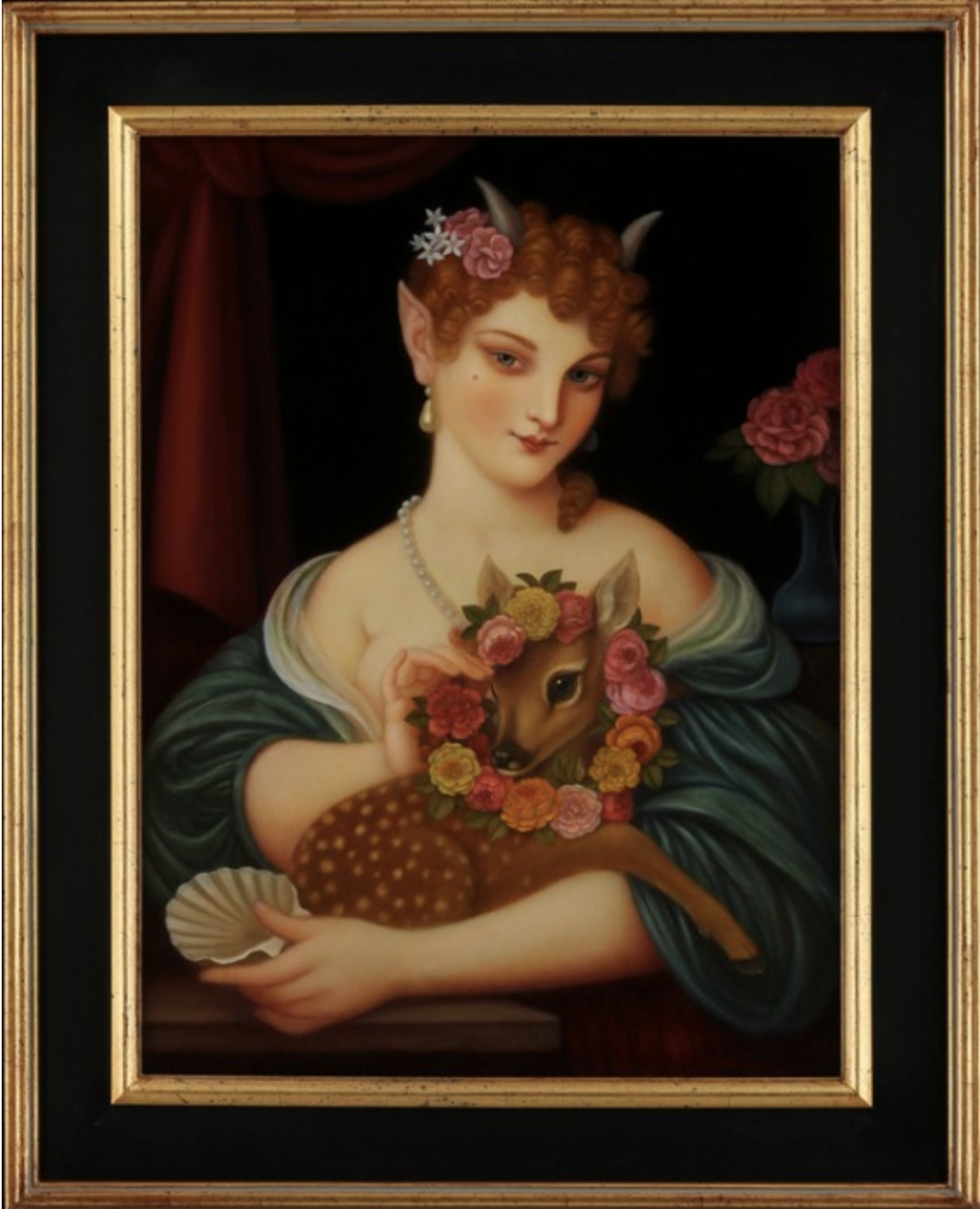 Faun Flora and a Fawn, 2015-16 oil on canvas 18 × 24 inches