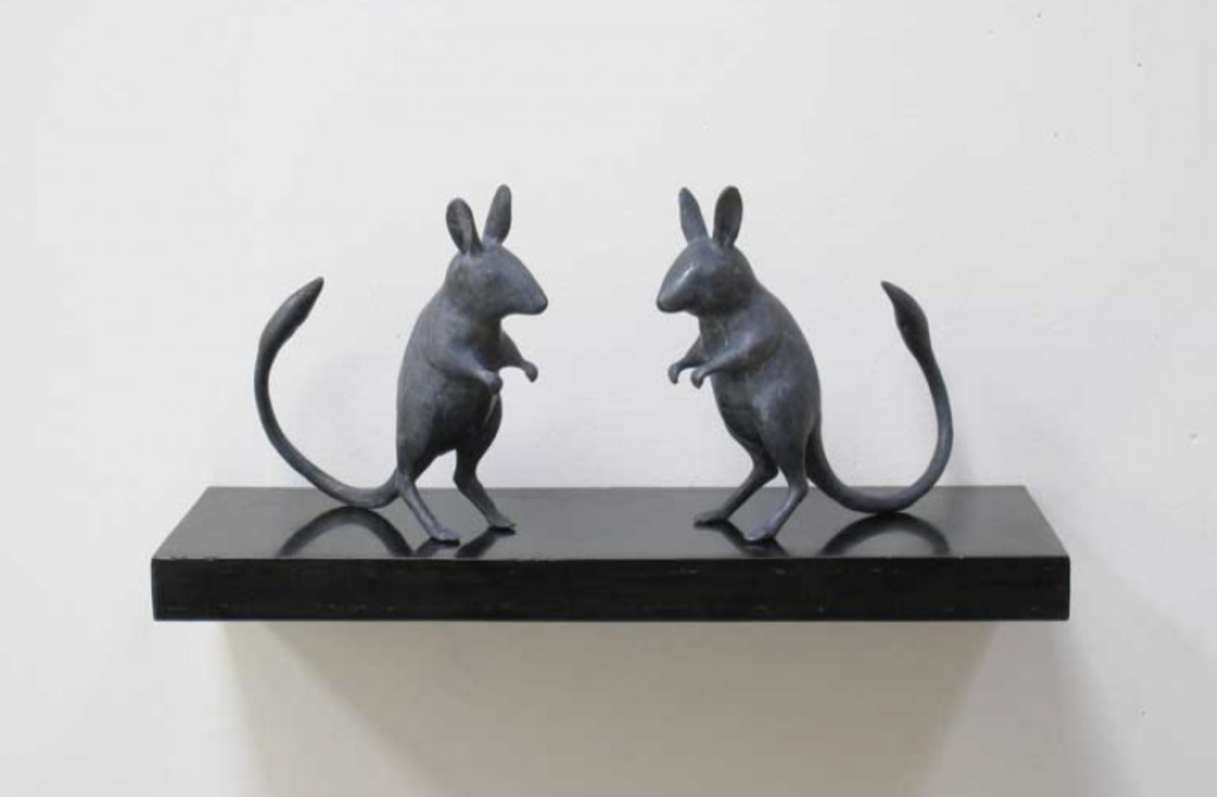 Untitled (Mice) 2009 cast lead 5.75 × 7 × 2 inches Edition 1/5