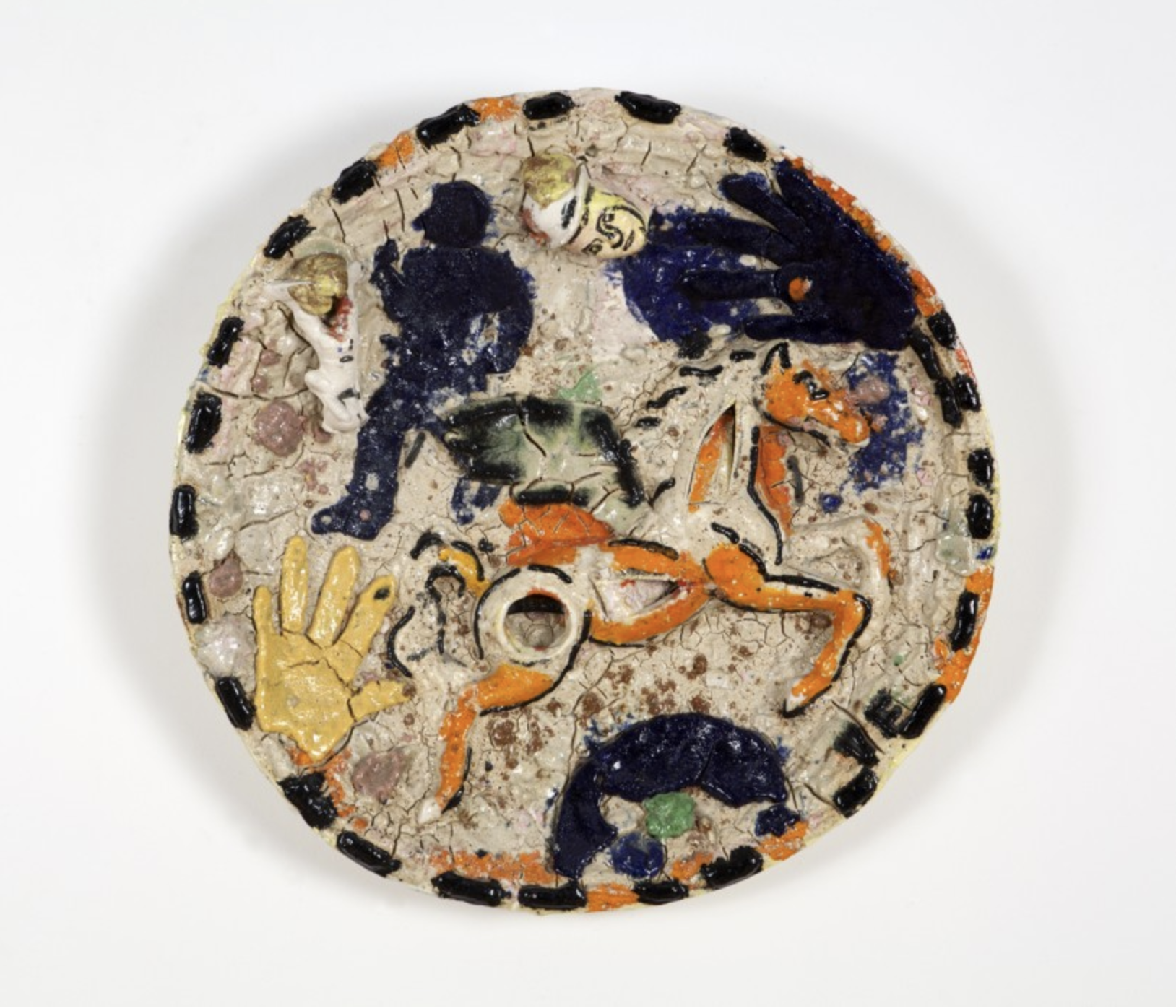 Untitled (Plate) 1983 ceramic 25 inch diameter
