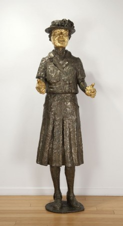 Viola Frey, Grandmother, 1979-89 cast bronze and gold leaf 82 × 26 × 19 inches