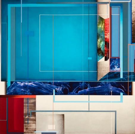 Supernatura XIII, 2018 acrylic on aluminum 24 × 24 inches