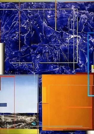 Supernatura XXI, 2018 acrylic on wood panel 17 × 12 inches