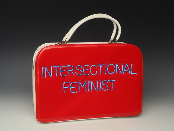 Intersectional Feminist, 2018, vintage purse with electroluminescent wire