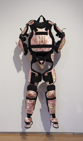 Pussy Riot Gear, 2018, full body riot suit with satin, 69 x 30 x 8.5 inches