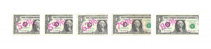 American Wage Gaps, 2017, Dollar Bills and ink