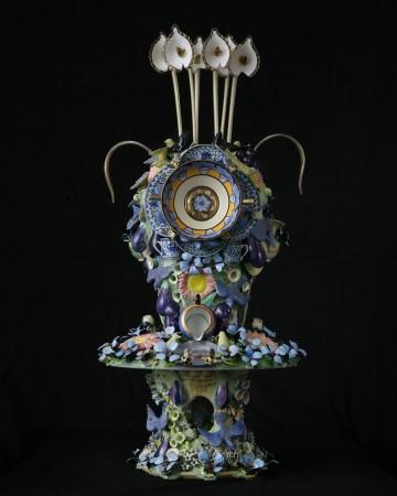 Joan Bankemper, Six Sisters, 2017-18, ceramic, 55 x 22 x 22 inches