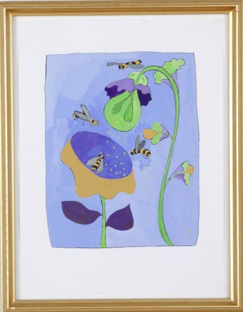 Joan Bankemper, Untitled #4 from A Gardener's Diary, 1999, gouache on paper, 12 x 9 inches