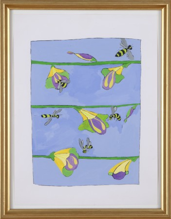 Joan Bankemper, Untitled #10 drawing from A Gardener's Diary, 1999, gouache on paper, 12 x 9 inches