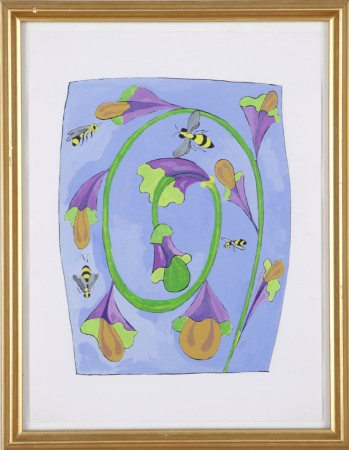Joan Bankemper, Untitled #14 drawing from A Gardener's Diary, 1999, gouache on paper, 12 x 9 inches