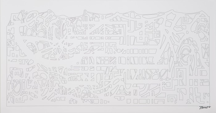 Jesse Small, Jungle Planet 3, 2018, Laser print, 23  x 44  inches