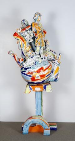 Viola Frey, World Civilization #1, 1987, ceramic, 66 x 28 x 17 inches