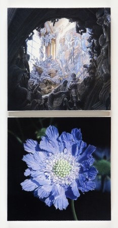 Don Eddy, Two Realms III, 2014, acrylic on canvas, 33 x 16 inches