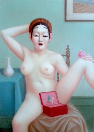 Colette Calascione, Fetish, 2013-14, oil on panel, 12 x 16 inches