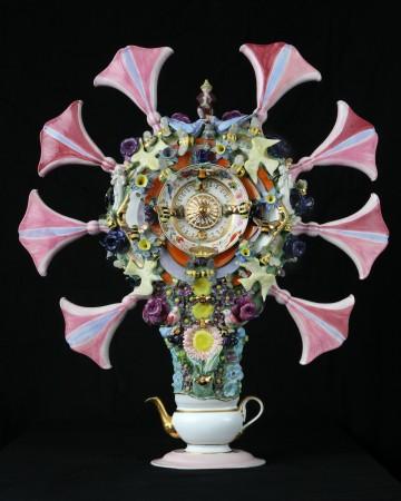 Joan Bankemper, Pimlico, 2018, ceramic, 41.5 x 37 x 10 inches