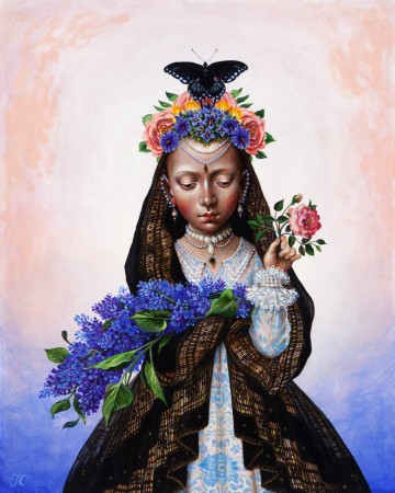 Timothy Cummings, Springs Widowed Bride, 2015, acrylic on panel, 20 x 16 inches