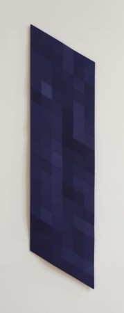 Upper Kern River / 28 (dark blue), 2007 -2018, oil on wood, 83 x 20 x 2.5 inches