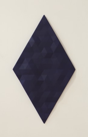 Upper Merced River / 4 (dark blue) , 2015 - 2018, oil on wood, 54.5 x 31.5 x 2.5 inches