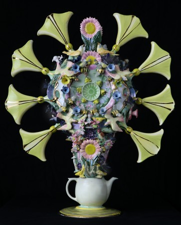 Churchill Downs, 2018, ceramic, 41 x 37 x 10 inches