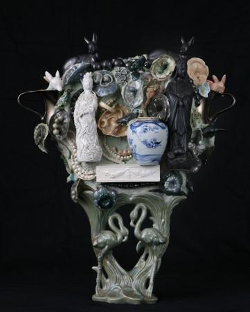 Black Madonna, 2007, ceramic, 29 x 25 inches