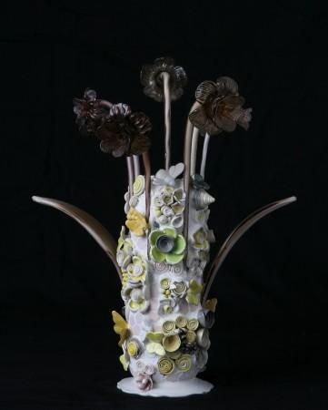 Yellow Flower Power, 2017, ceramic