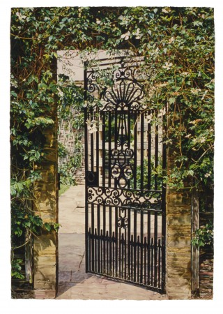 Carolyn Brady, Jekyll and Lutyens at Hestercombe/Somerset, 1996-7, watercolor on paper , 74 x 51.5 inches