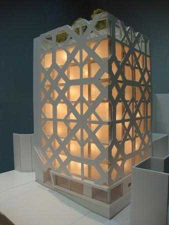 Hariri & Hariri, ALVAND TOWER, 2016, Foam Core, Plexiglass, 18 x 23.5 x 19 inches