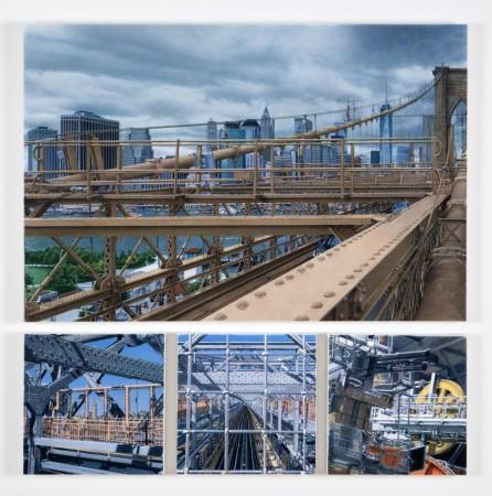 Don Eddy, Metal City, 2016, acrylic on canvas, 37 x 36 inches