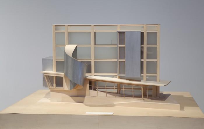 Hariri & Hariri, Digital House, 1999, Bass Wood, Metal, Liquid Crystal Displays, 26 x 42 x 32 inches