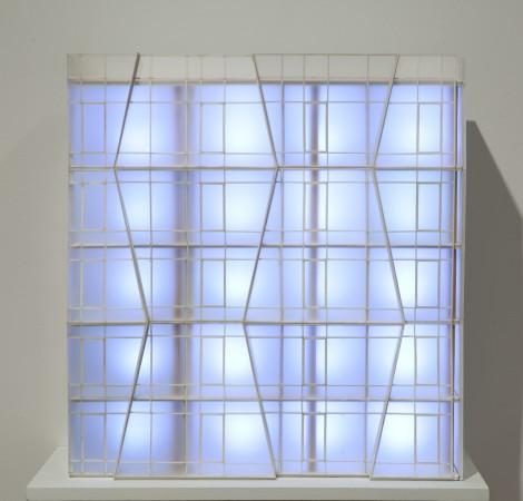 Hariri & Hariri, Xi'an Wave Dance, 2011, Bass Wood, Plexiglass, LED Lighting, 22.5 x 21 x 7 inches