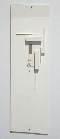 Hariri & Hariri, Sagaponac House, 2005, White Museum Board, 21 x 6 x 1 inches