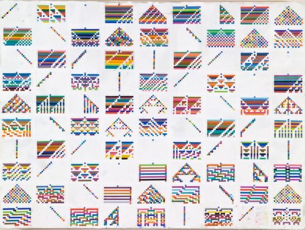 "Richard Purdy, ""69-150"", 2004, encaustic on wood, 36 x 48 x 3 inches"