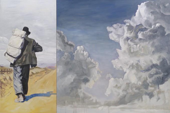 Bindlestiff, 2015, oil on canvas, 80 x 120 inches
