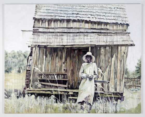 Sharecropper, 2016, oil on canvas, 96 x 120 inches