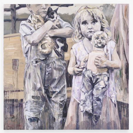 Workcamp Companions, 2015, oil on canvas, 66 x 66 inches