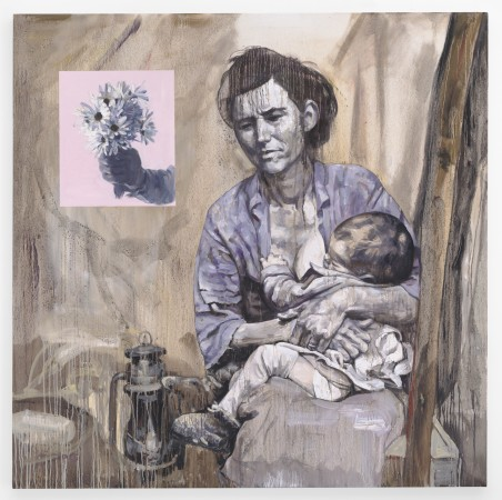 Migrant Mother, 2015, oil on canvas, 66 x 66 inches