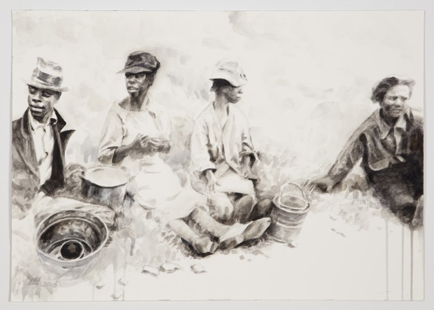 Field Break, 2016, watercolor on paper, 14 x 20 inches