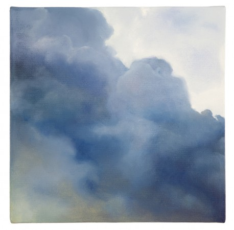 Purdy Eaton, Cloudporn, 2013, oil on canvas, 12 x 12 inches