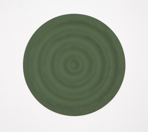 Rupert Deese, Four Wavelets No. 1, 1998, oil on plywood, 12 inches in diameter